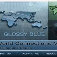 WORLD CONNECTIONS MAP BACKGROUND – MOTION GRAPHIC (VIDEOHIVE)