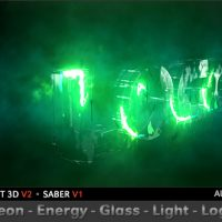 VIDEOHIVE NEON ENERGY GLASS LIGHT LOGO FREE DOWNLOAD