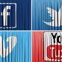 SOCIAL NETWORK CURTAIN OPEN – MOTION GRAPHIC (VIDEOHIVE)