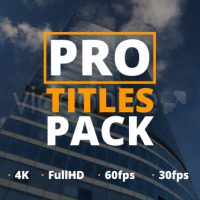 VIDEOHIVE PRO TITLES PACK FREE DOWNLOAD