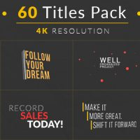 VIDEOHIVE 60 TITLES PACK FREE AFTER EFFECTS TEMPLATE