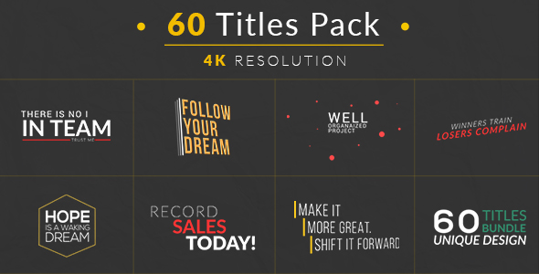 Videohive 60 titles pack free after effects template for Free after effects title templates