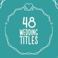 VIDEOHIVE 48 WEDDING TITLES FREE DOWNLOAD