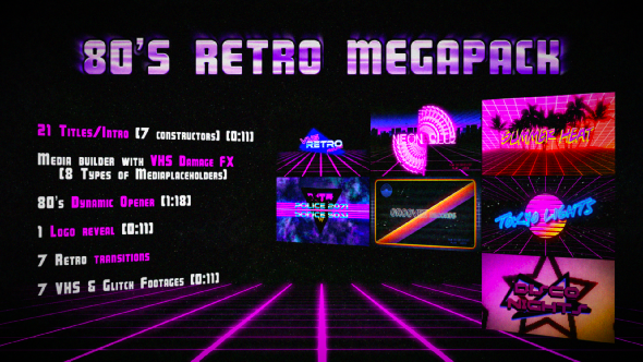 VIDEOHIVE 80'S RETRO MEGAPACK free download - Free After