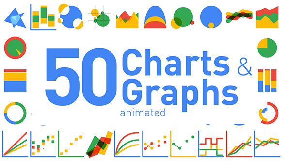 videohive 50 animated charts graphs free download