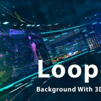 VIDEOHIVE LOOPED BACKGROUND WITH 3D SCREENS FREE DOWNLOAD