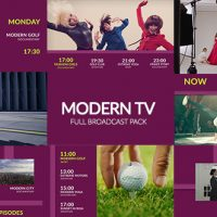 VIDEOHIVE MODERN TV – FULL BROADCAST PACK FREE DOWNLOAD
