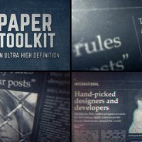 VIDEOHIVE NEWSPAPER PROMO TOOLKIT FREE DOWNLOAD