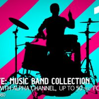 VIDEOHIVE MUSIC BAND COLLECTION 10 (SILLHOUETTES) – MOTION GRAPHICS