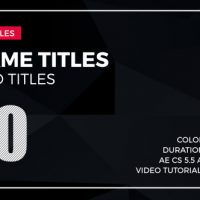 VIDEOHIVE FRAME TITLES 2 FREE AFTER EFFECTS TEMPLATE