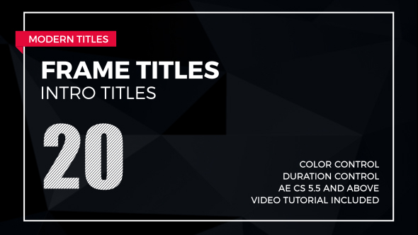 Videohive frame titles 2 free after effects template for Free after effects titles