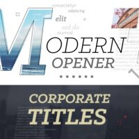VIDEOHIVE MODERN OPENER // CORPORATE TITLES FREE DOWNLOAD
