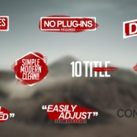 VIDEOHIVE MODERN TITLES FREE DOWNLOAD