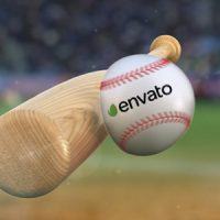 VIDEOHIVE BASEBALL HIT LOGO FREE DOWNLOAD