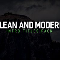 VIDEOHIVE MODERN INTRO TITLES PACK FREE DOWNLOAD