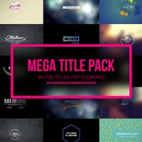 VIDEOHIVE MEGA TITLES 4K PROJECT FREE DOWNLOAD