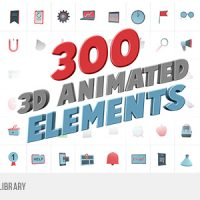 VIDEOHIVE 3D ANIMATED ELEMENTS LIBRARY FREE DOWNLOAD