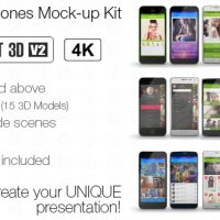 VIDEOHIVE POPULAR PHONES MOCK-UP KIT FREE DOWNLOAD
