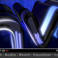 VIDEOHIVE LED AUDIO REACT EQUALIZER LOGO FREE DOWNLOAD