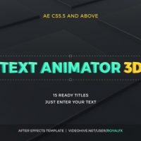 VIDEOHIVE TEXT ANIMATOR 03 3D CORPORATE TITLES