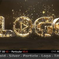 VIDEOHIVE GOLD SILVER PARTICLE LOGO TITLE FREE DOWNLOAD