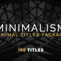 VIDEOHIVE MINIMALISM NEW FREE AFTER EFFECTS TEMPLATE