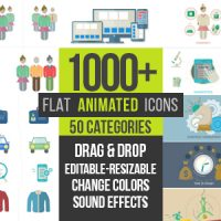 VIDEOHIVE FLAT ANIMATED ICONS 1000+ FREE DOWNLOAD