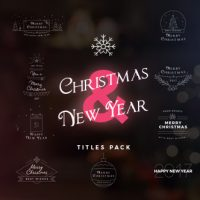 VIDEOHIVE 17 CHRISTMAS & NEW YEAR TITLES FREE DOWNLOAD