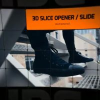 3D SLICE OPENER SLIDESHOW – AFTER EFFECTS TEMPLATE (MOTION ARRAY)