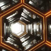 ORANGE INFINITE HEXAGON LOOP – MOTION GRAPHICS (VIDEOHIVE)
