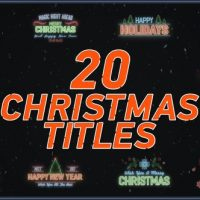 VIDEOHIVE 20 CHRISTMAS TITLES FREE DOWNLOAD