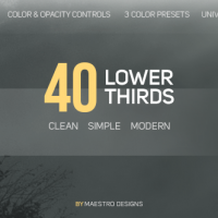 VIDEOHIVE 40 LOWER THIRDS FREE DOWNLOAD