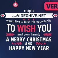 VIDEOHIVE CHRISTMAS TYPOGRAPHY FREE DOWNLOAD