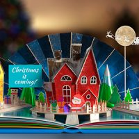 VIDEOHIVE CHRISTMAS POP-UP BOOK 2 FREE DOWNLOAD