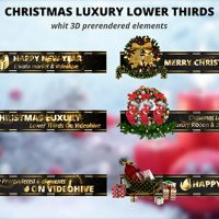 VIDEOHIVE CHRISTMAS LUXURY LOWER THIRDS