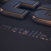 VIDEOHIVE METALLIC TEXT FREE DOWNLOAD