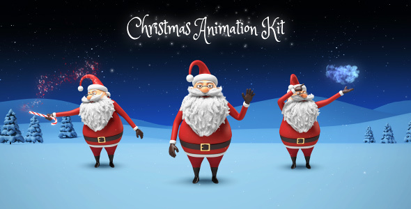 santa christmas animation diy kit videohive free after effects