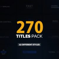 VIDEOHIVE 270 TITLES PACK FREE AFTER EFFECTS TEMPLATE