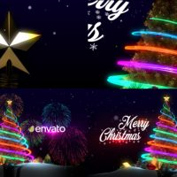 VIDEOHIVE CHRISTMAS TREE & NEW YEAR GREETINGS FREE DOWNLOAD