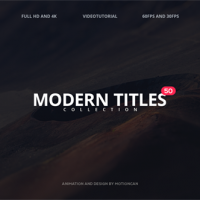 VIDEOHIVE 50 MODERN TITLES FREE DOWNLOAD