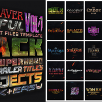VIDEOHIVE 25 SUPERHERO TRAILER TITLES PACK