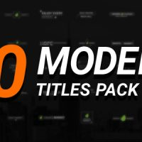 VIDEOHIVE 50 MODERN TITLES PACK FREE DOWNLOAD