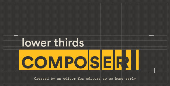 VIDEOHIVE LOWER THIRDS COMPOSER