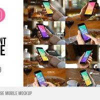 VIDEOHIVE CAFE RESTAURANT FOOTAGE MOBILE MOCKUP