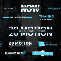VIDEOHIVE MOTION TITLES & LOWER THIRDS 1 FREE DOWNLOAD