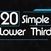VIDEOHIVE 20 SIMPLE LOWER THIRDS FREE DOWNLOAD
