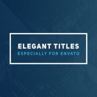 VIDEOHIVE ELEGANT TITLES 2 FREE DOWNLOAD