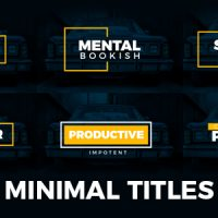 VIDEOHIVE MINIMAL TITLES 19235796 FREE DOWNLOAD