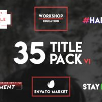 VIDEOHIVE 35 TYPOGRAPHY TITLE FREE DOWNLOAD
