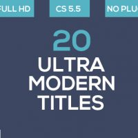 VIDEOHIVE 20 ULTRA MODERN TITLES FREE DOWNLOAD